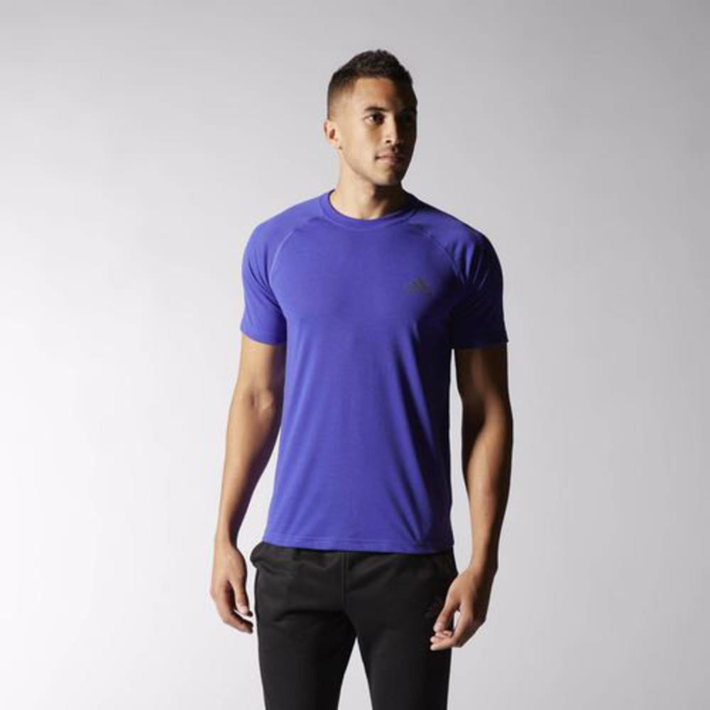 ADIDAS Men's Ultimate Crew Tee - ROYAL/BLACK-S14039