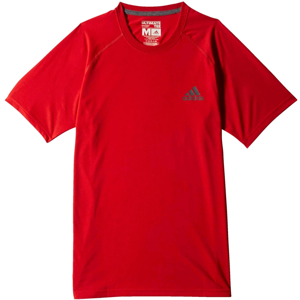 ADIDAS Men's Ultimate Crew Tee - SCARLET/GREY-S14035