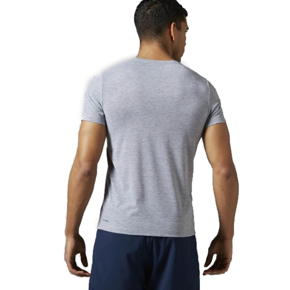 REEBOK Men's Workout Ready Supremium Tee - MEDIUM GREY HEATHER