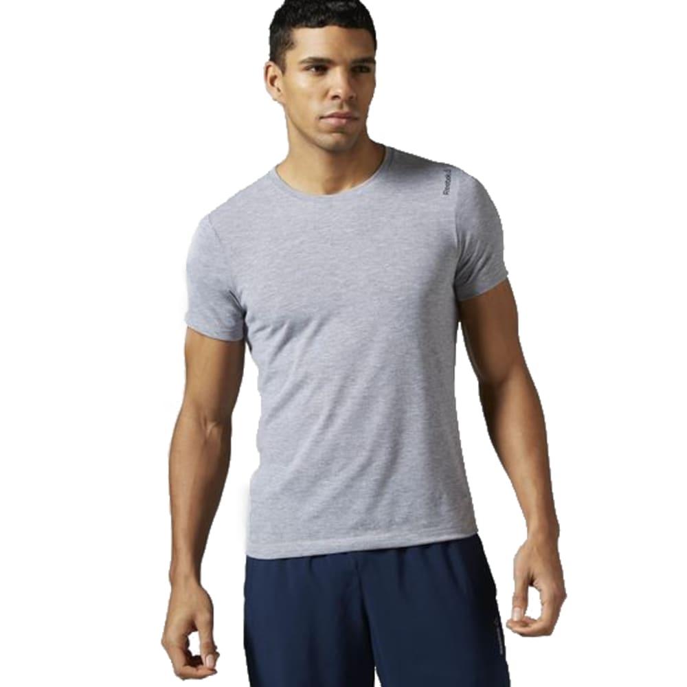 REEBOK Men's Workout Ready Supremium Tee - MEDIUM GREY HEATHER
