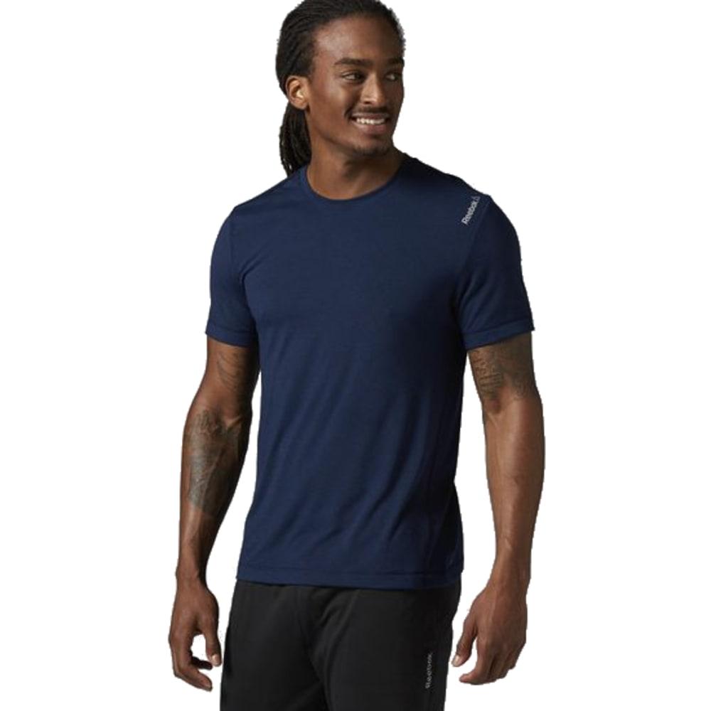 REEBOK Men's Workout Ready Supremium Tee - COLLEGE NAVY