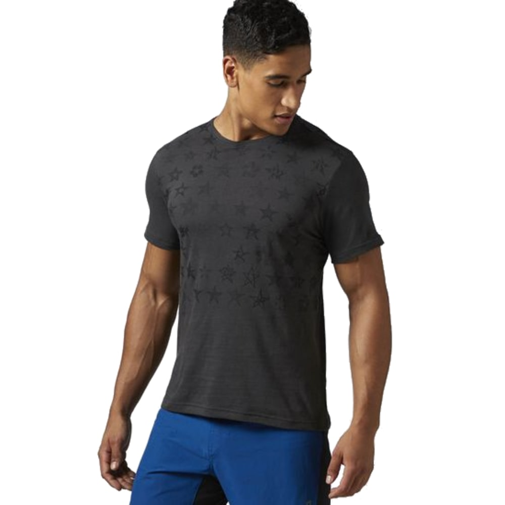 REEBOK Men's 50 Stars Graphic Tee - COAL-AJ2674