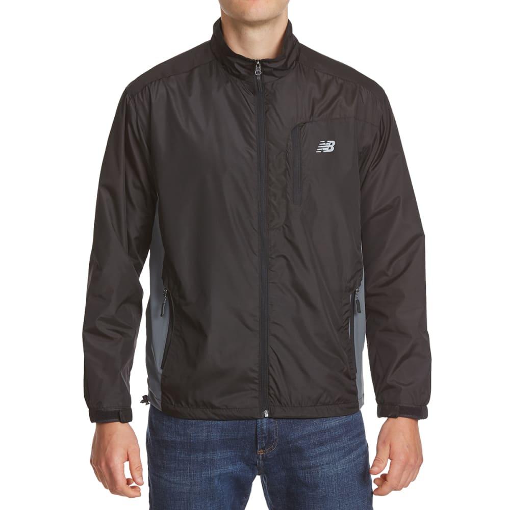 NEW BALANCE Men's Polar Fleece Jacket - BLACK/LEAD
