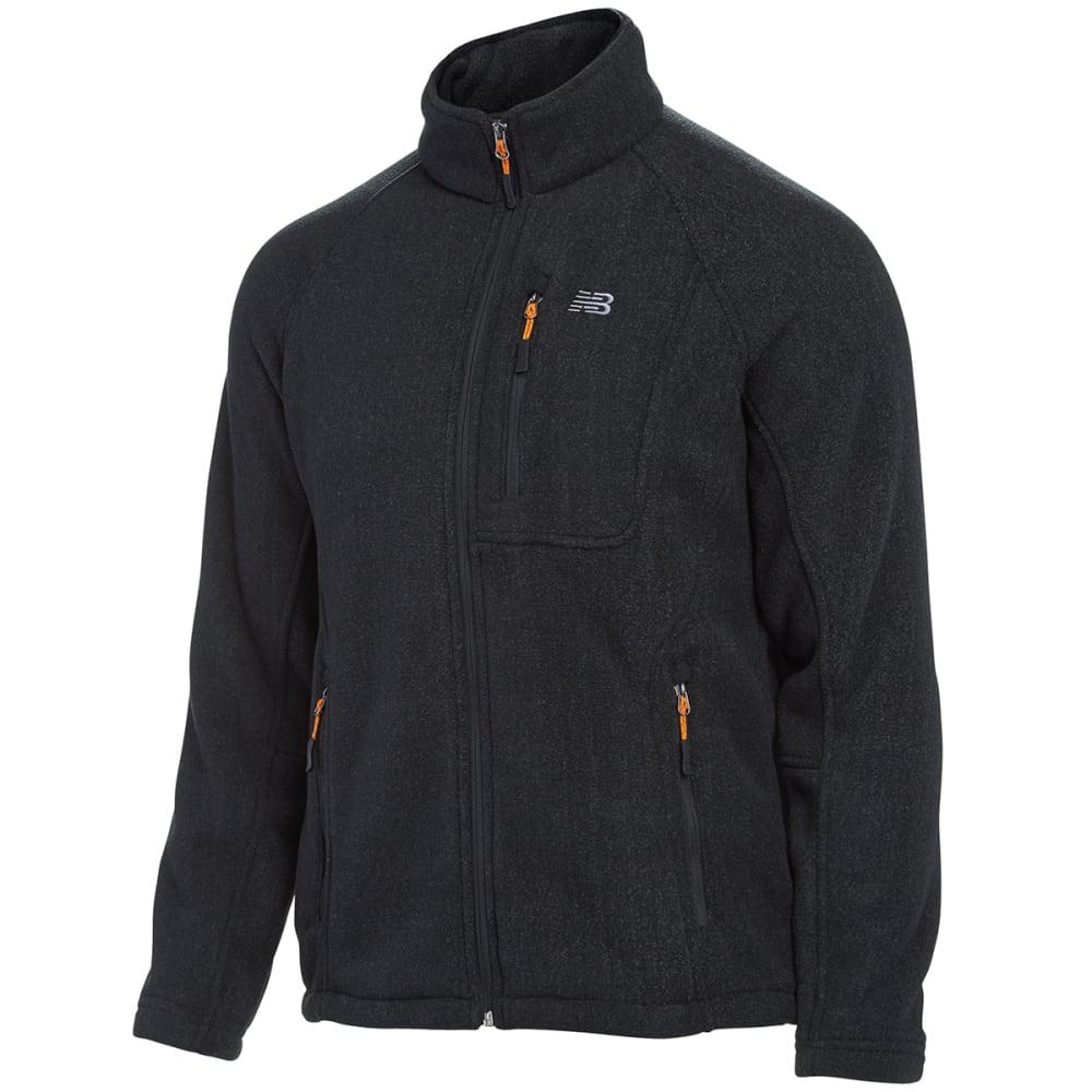 NEW BALANCE Men's Double-Brushed Fleece Jacket - CHARCOAL