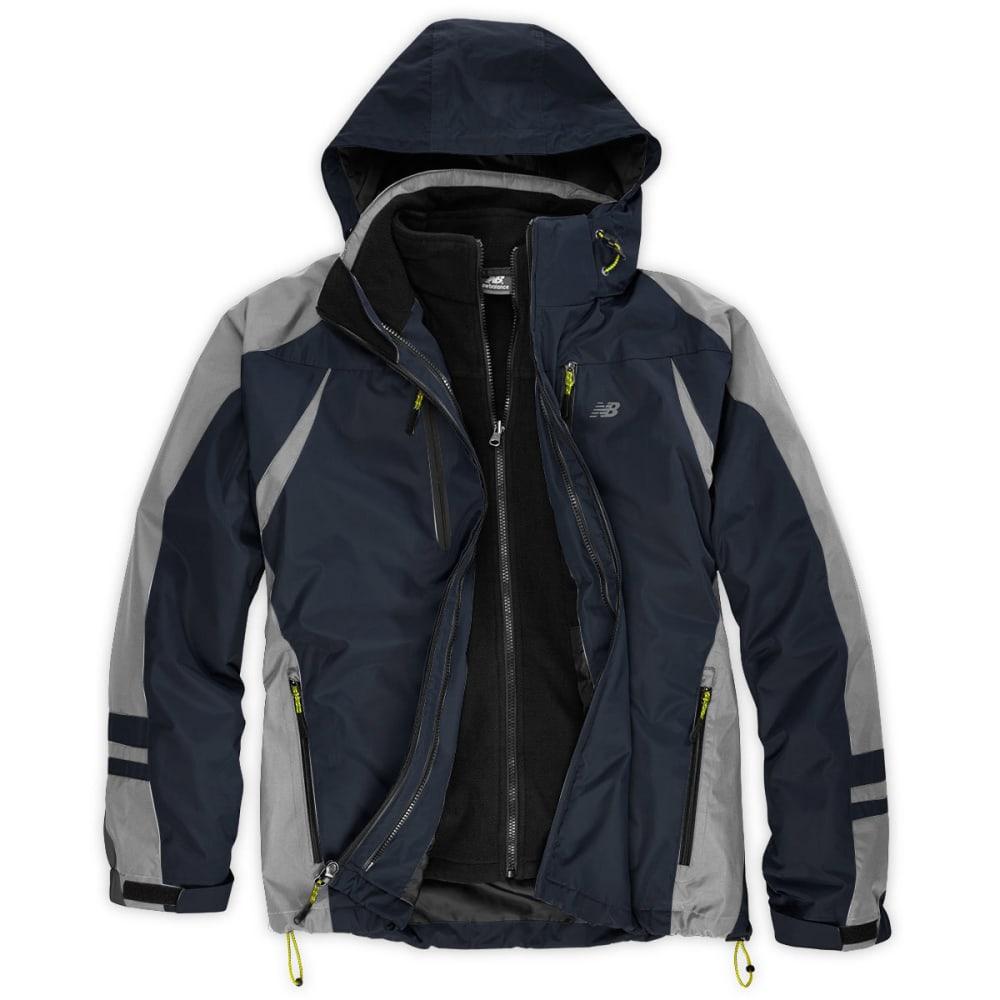 NEW BALANCE Men's Soft Shell Bonded Jacket - GREY/BLACK