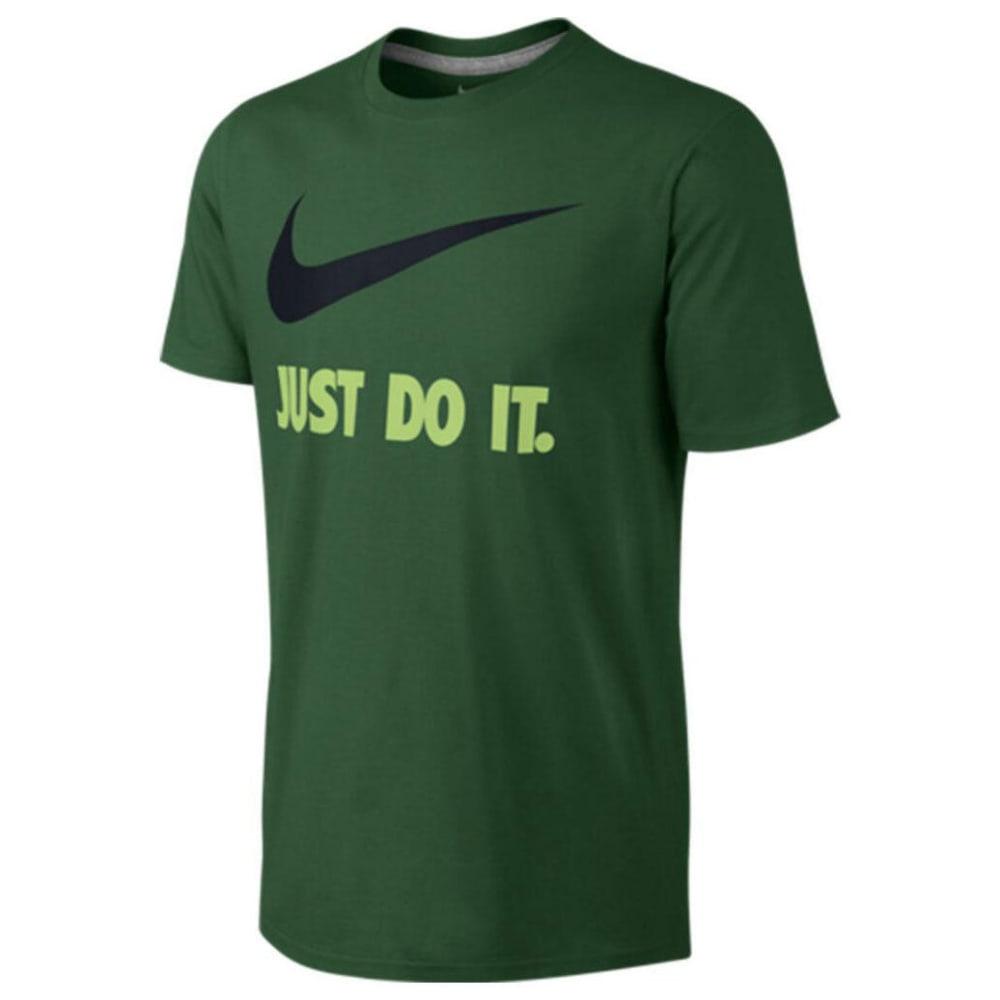 NIKE Men's Sportswear Just Do It Swoosh T-Shirt - GORGE GREEN-341