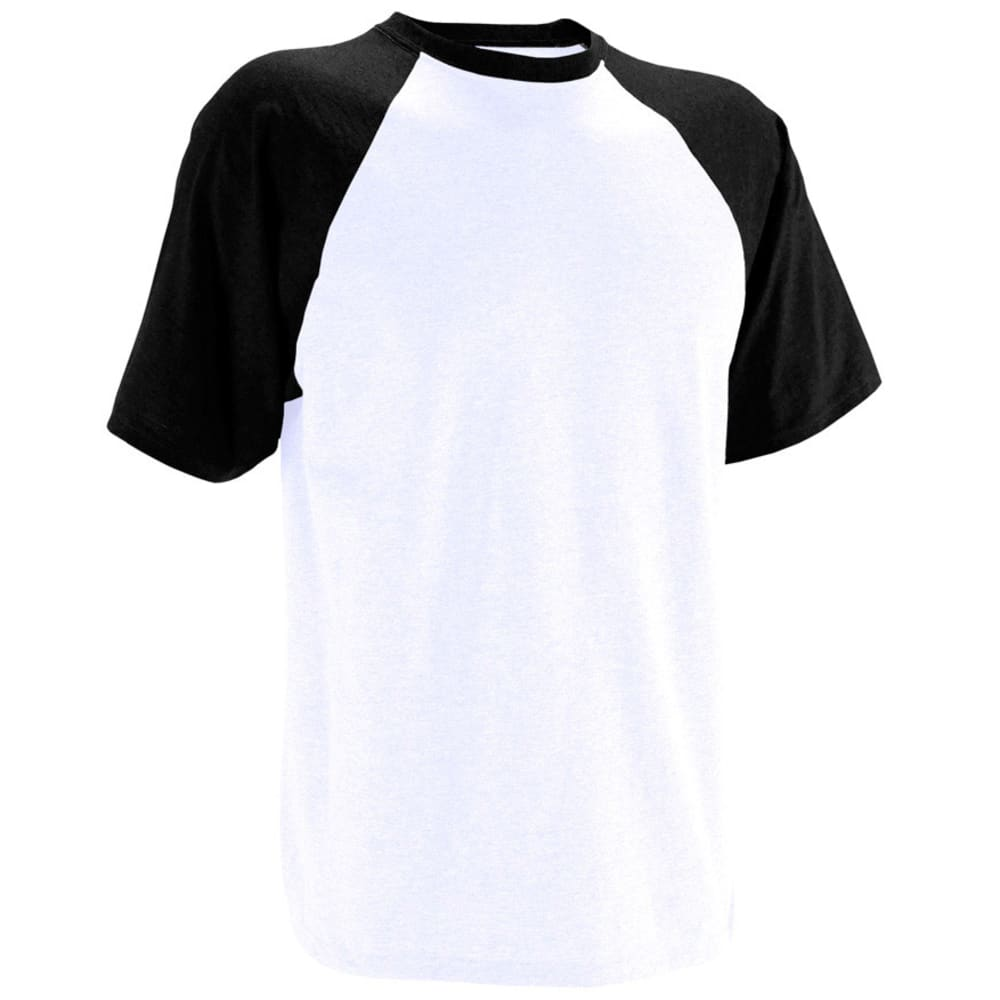RUSSELL ATHLETIC Men's Raglan Tee VALUE DEAL - WHITE/BLACK