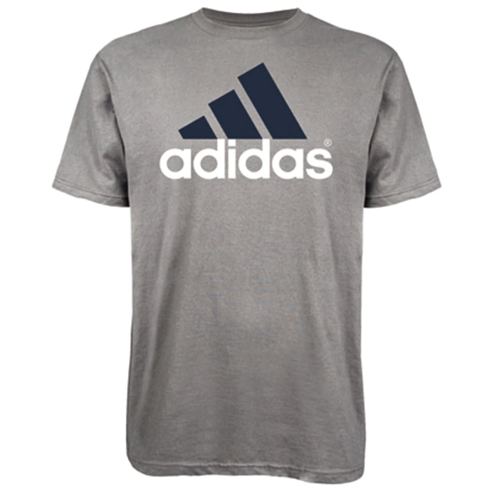 ADIDAS Men's Logo Tee - GREY/NAVY
