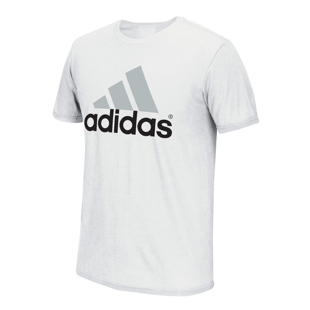 ADIDAS Men's Logo Tee - HEATHER STONE