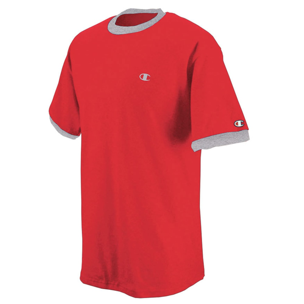 CHAMPION Men's Cotton Jersey Ringer Tee - CRIMSON-TCQ