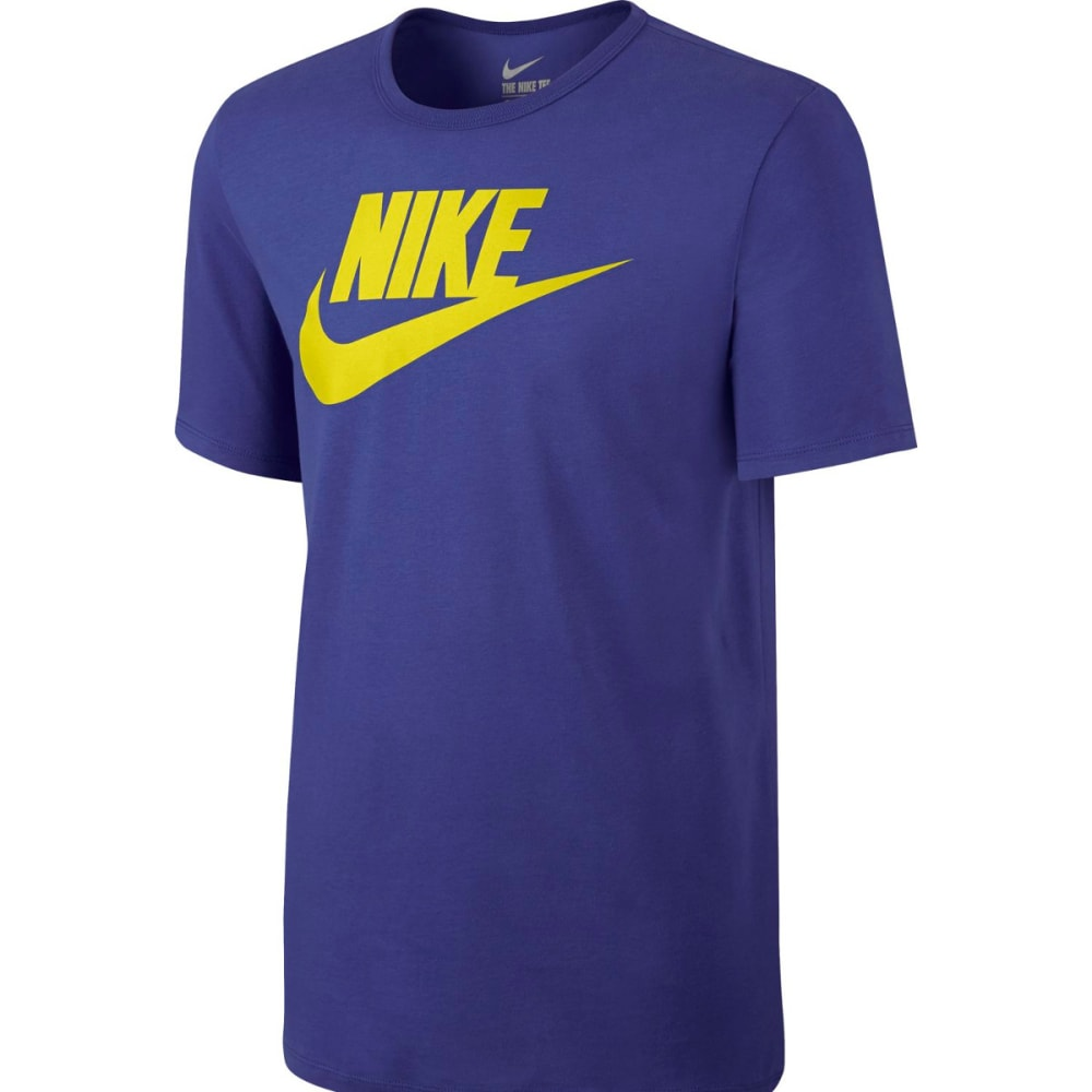 NIKE Men's Futura Icon Short Sleeve Tee - DEEP NIGHT/LIME-512