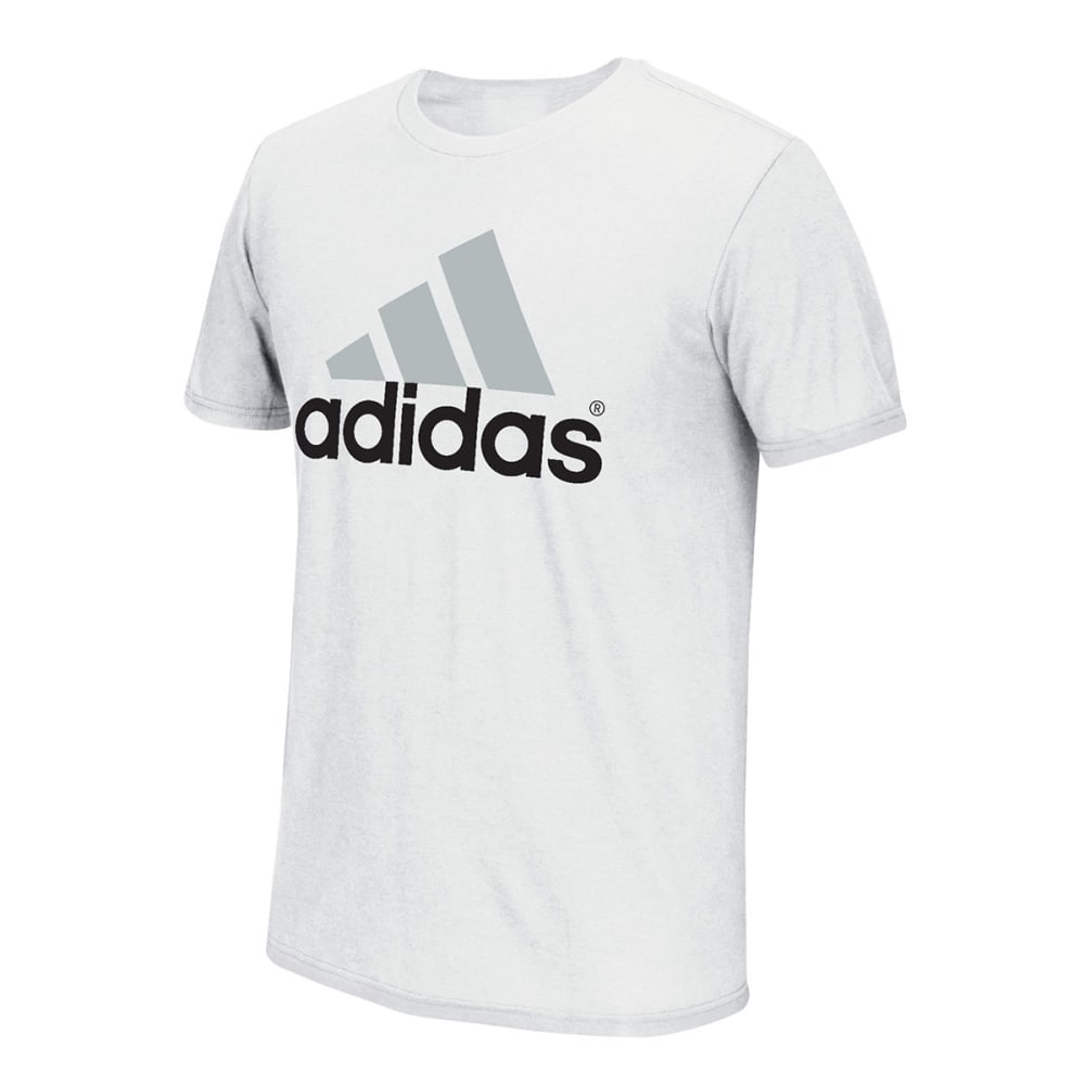 ADIDAS Men's Logo Tee - WHITE/GREY/BLACK-013