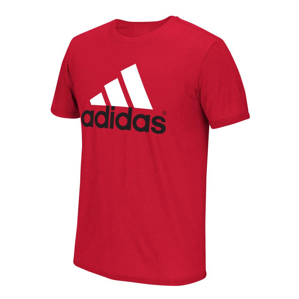 ADIDAS Men's Logo Tee - SCARLET/WHITE-LST