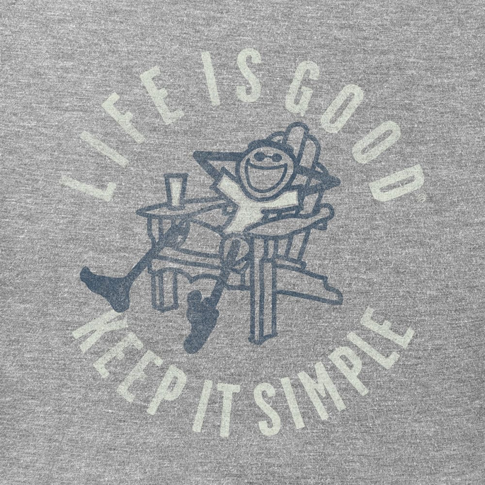 LIFE IS GOOD Men's Keep It Simple Adirondack Crusher Tee - HTHR GRY