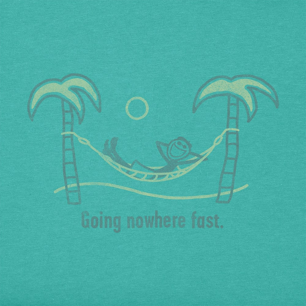 LIFE IS GOOD Men's Going Nowhere Fast Crusher Tee - TEAL BLUE