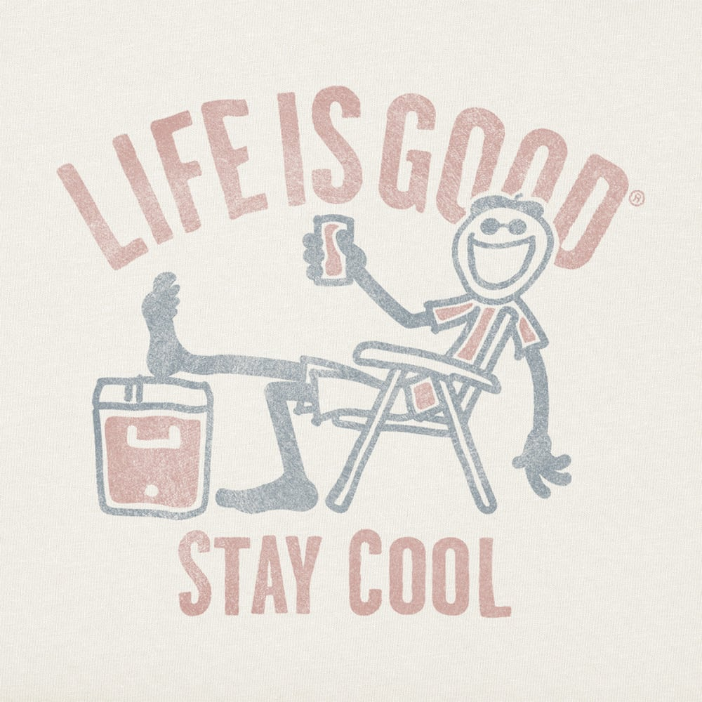 LIFE IS GOOD Men's Stay Cool Crusher Tee - CRYSTAL