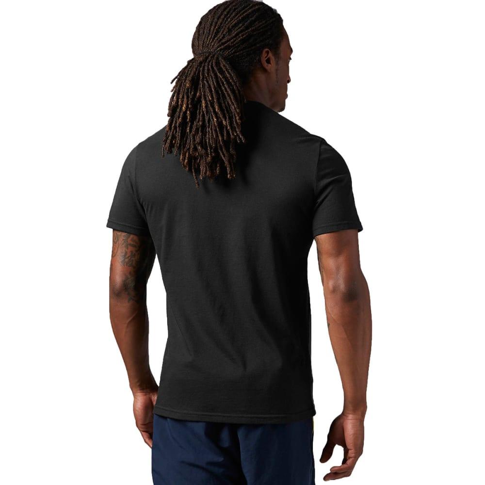 REEBOK Men's Logo Tee Shirt - BLACK