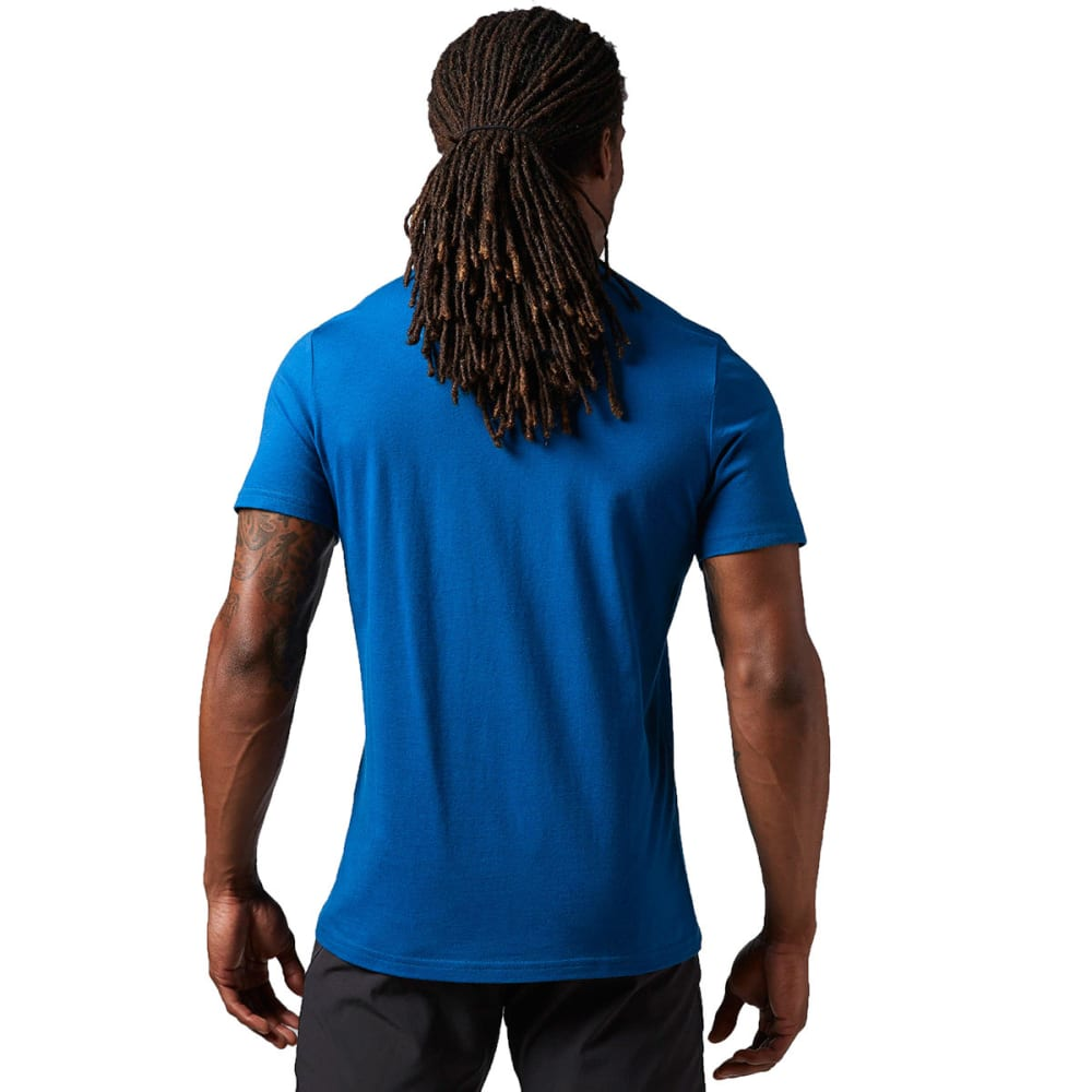 REEBOK Men's Logo Tee Shirt - HANDY BLUE