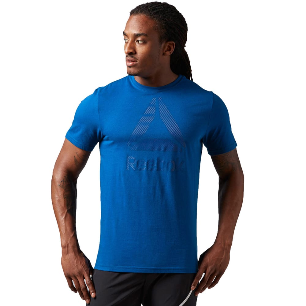 REEBOK Men's Logo Tee Shirt - HANDY BLUE
