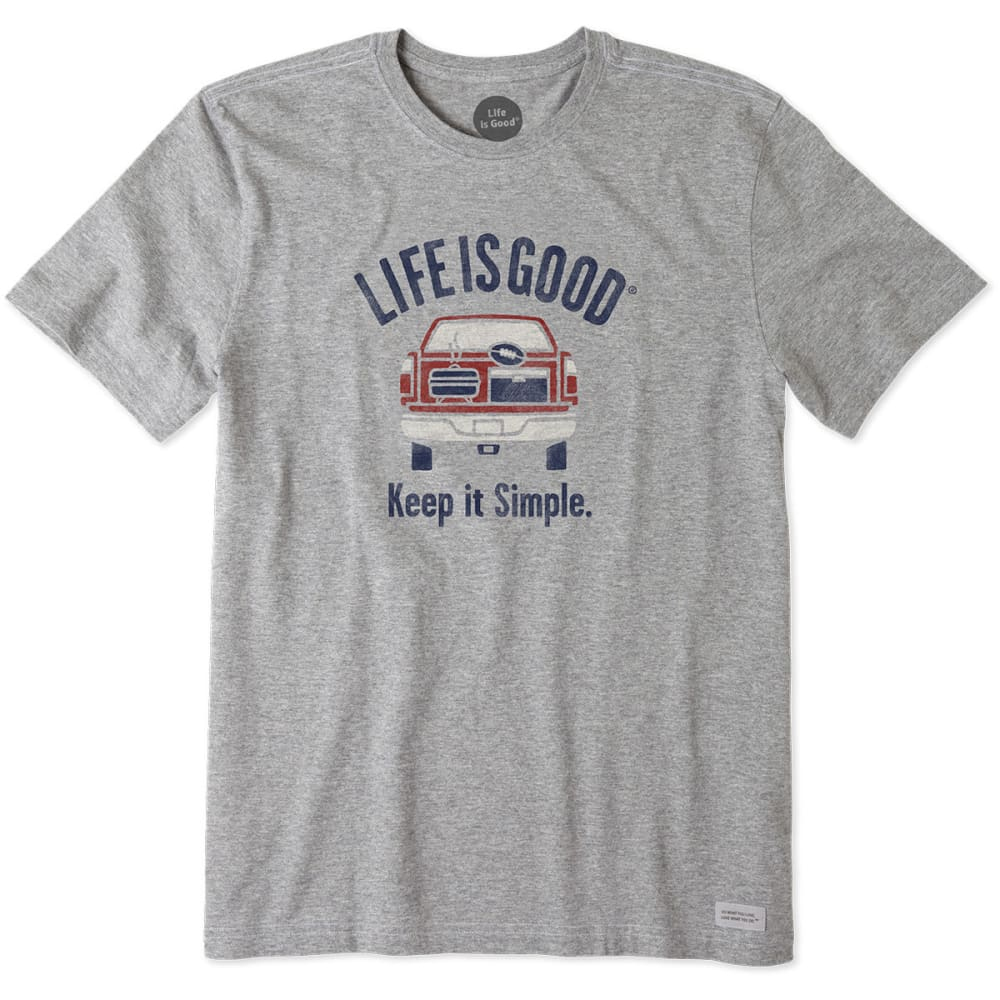 LIFE IS GOOD Men's Simple Tailgate Crusher Tee - HEATHER GREY
