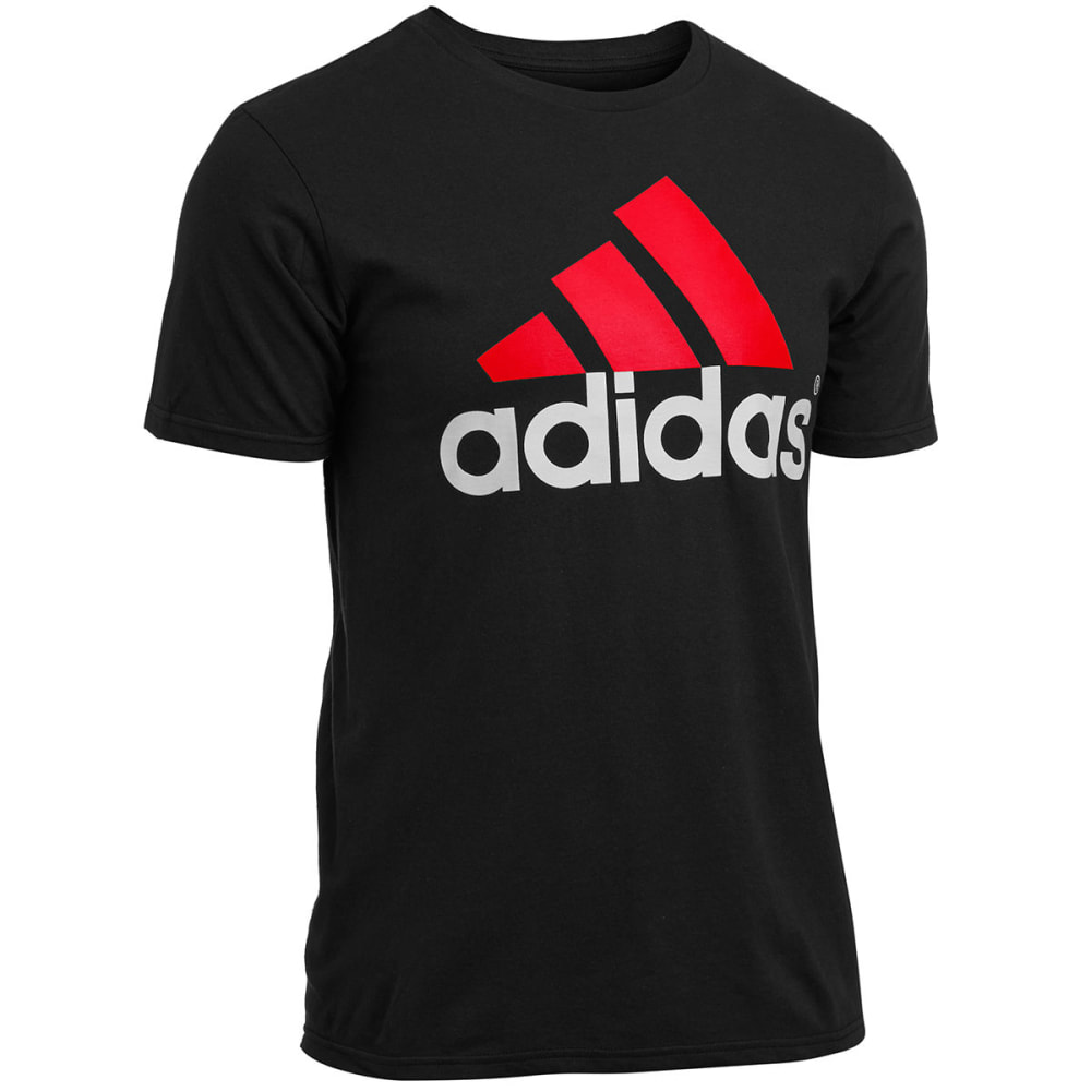ADIDAS Men's Logo Tee - BLACK GEO BLOCK