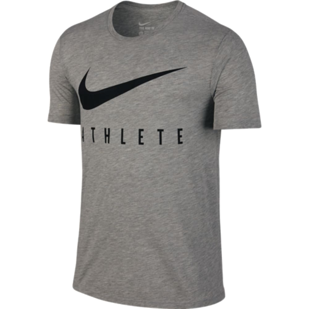 NIKE Men's Swoosh Athlete Tee - DARK GREY-063