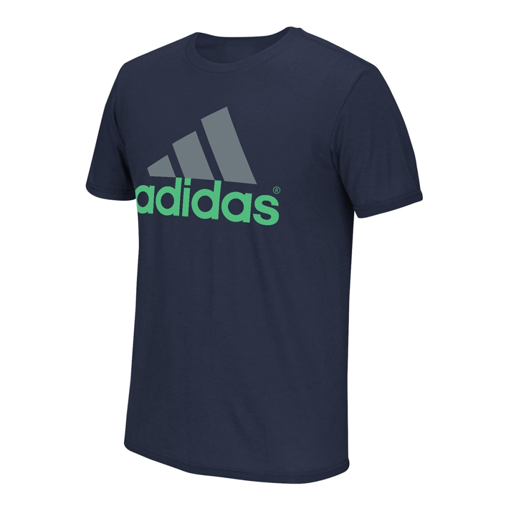 Adidas Men's Logo Tee - Blue, M