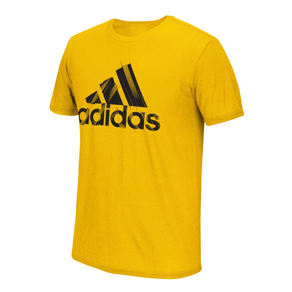 Adidas Men's Branded Cuts Tee - Yellow, S
