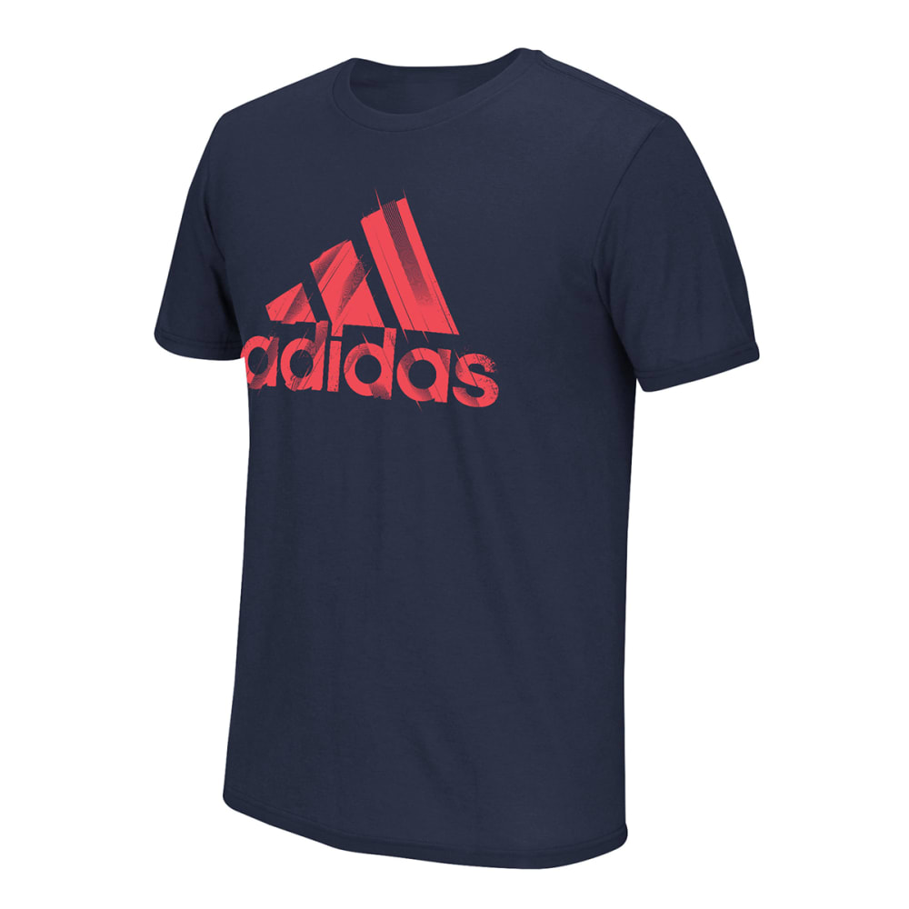 ADIDAS Men's Branded Cuts Tee - NAVY/RED-CON