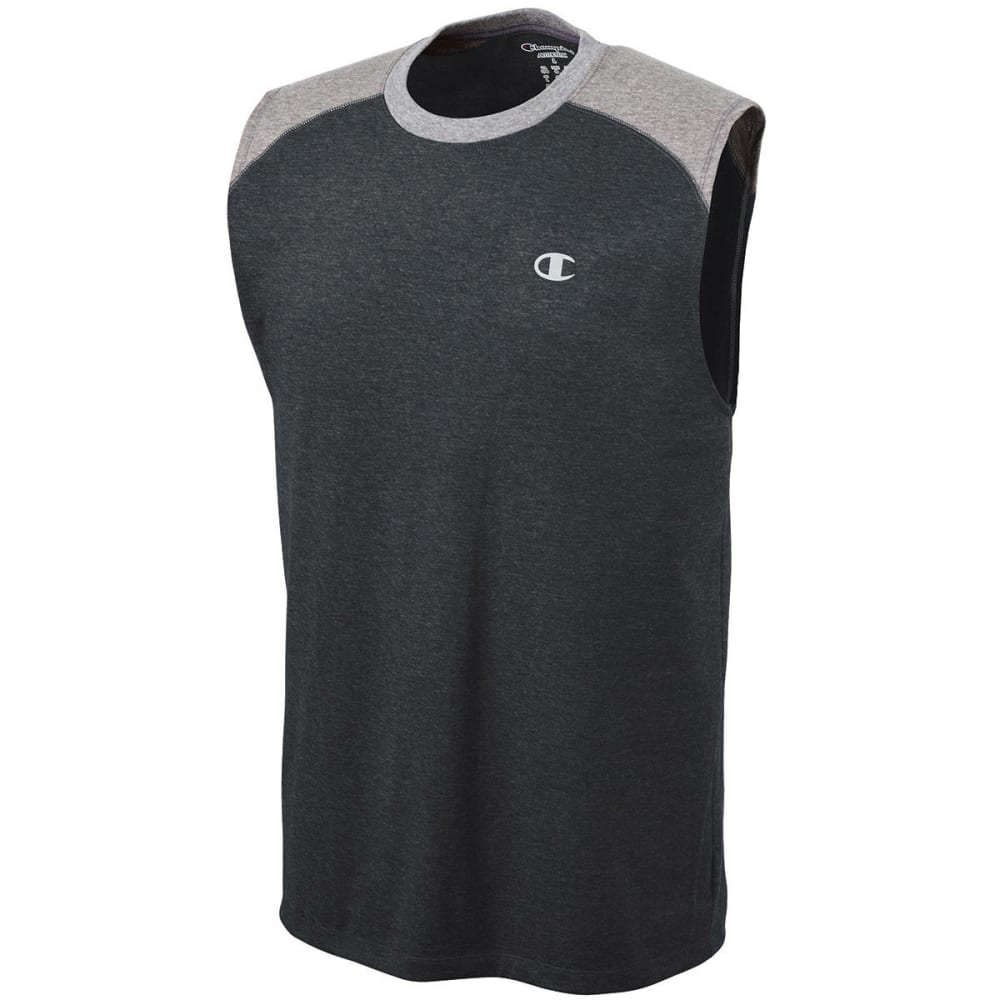 CHAMPION Men's Vapor® Cotton Muscle Tank - EBONY HEATHER-9UT