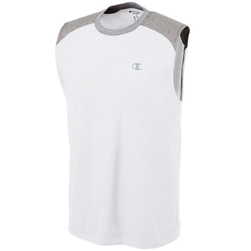 CHAMPION Men's Vapor Cotton Muscle Tank - WHITE/OXFORD-D3T