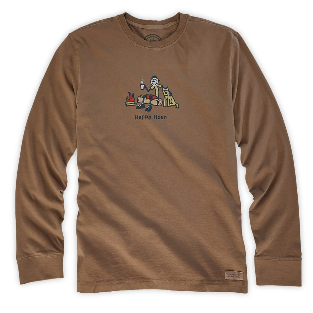 LIFE IS GOOD Men's Happy Hour Tee - NUTTY BROWN