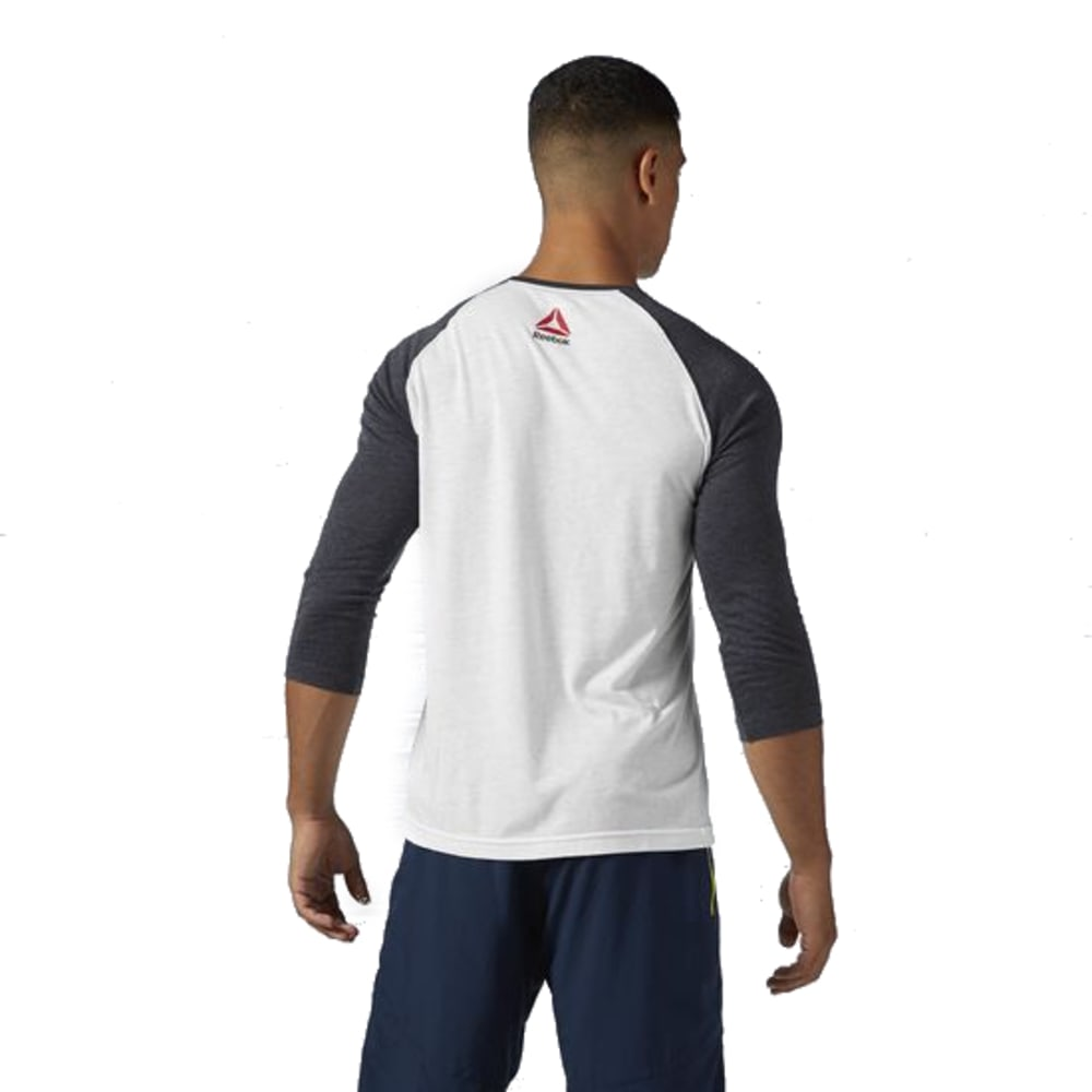 REEBOK Men's Badge Baseball Tee - WHITE