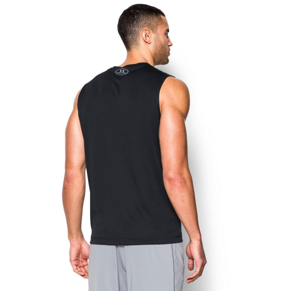UNDER ARMOUR Men's Sleeveless Tech Tee - BLACK-001