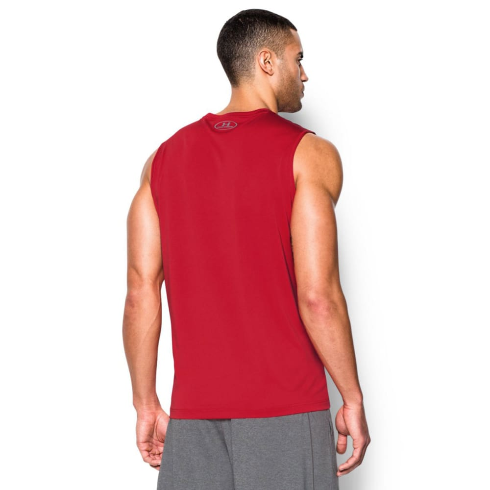 UNDER ARMOUR Men's Sleeveless Tech Tee - RED-600