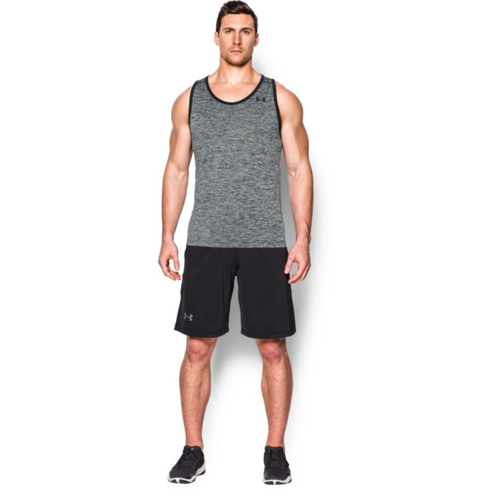UNDER ARMOUR Men's Tech Tank - BLACK/BLACK-006