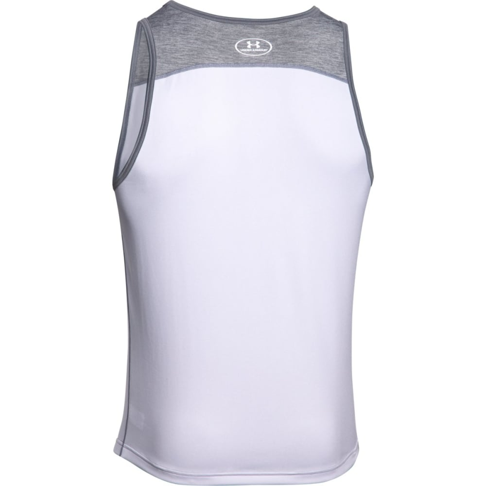 UNDER ARMOUR Men's Tech Tank - WHITE/STEEL-101