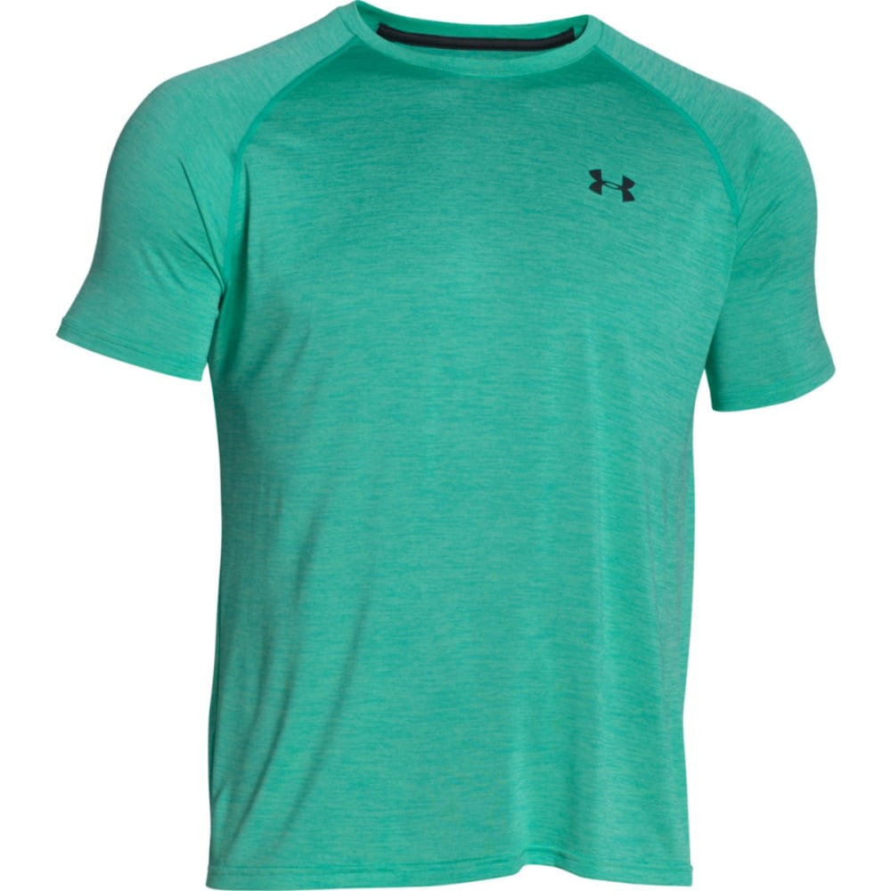 UNDER ARMOUR Men's Short-Sleeve Tech Tee - GREEN MALACHITE-349