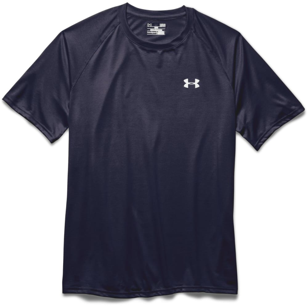UNDER ARMOUR Men's Short-Sleeve Tech Tee - NAVY