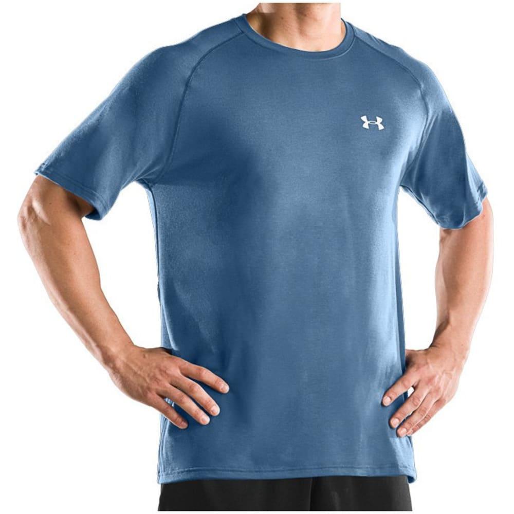 UNDER ARMOUR Men's Short-Sleeve Tech Tee - BLUE MARKER-792