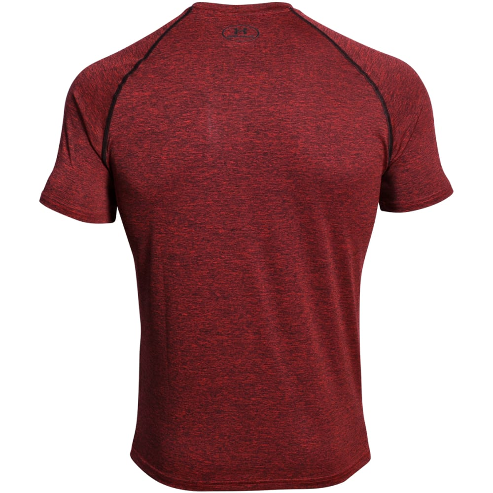 UNDER ARMOUR Men's Short-Sleeve Tech Tee - RED/BLACK TWIST-608