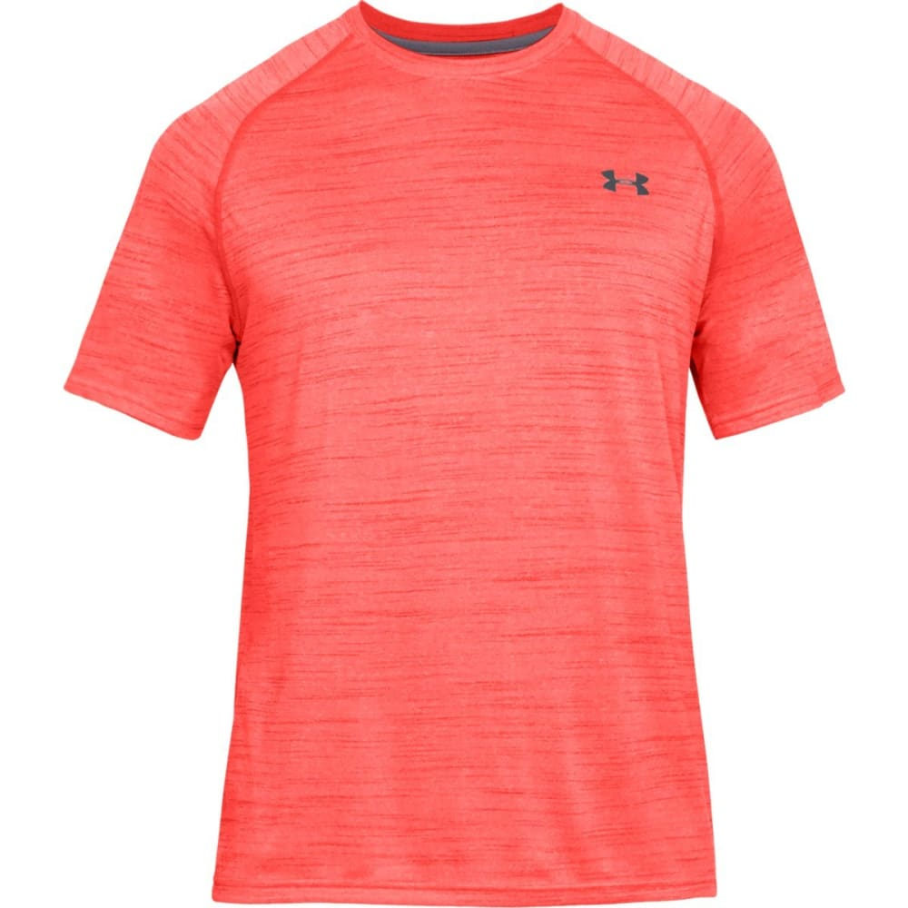 UNDER ARMOUR Men's Short-Sleeve Tech Tee - NEON CORAL-985