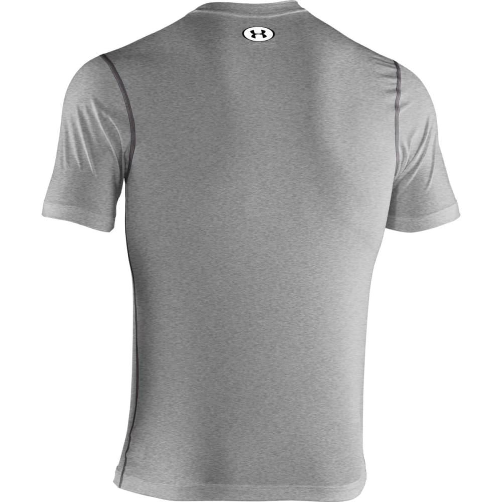 UNDER ARMOUR Men's HeatGear® Sonic Fitted Shirt - GREY HEATHER BLACK