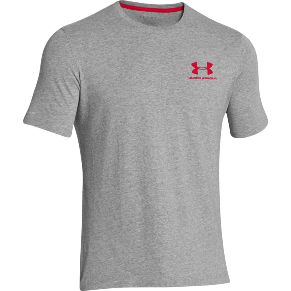 UNDER ARMOUR Men's Charged Cotton Tee - GREY HEATHER-025