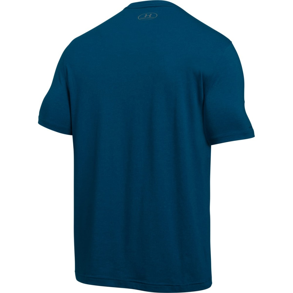 UNDER ARMOUR Men's Charged Cotton Tee - BLACKOUT NVY/STL-998