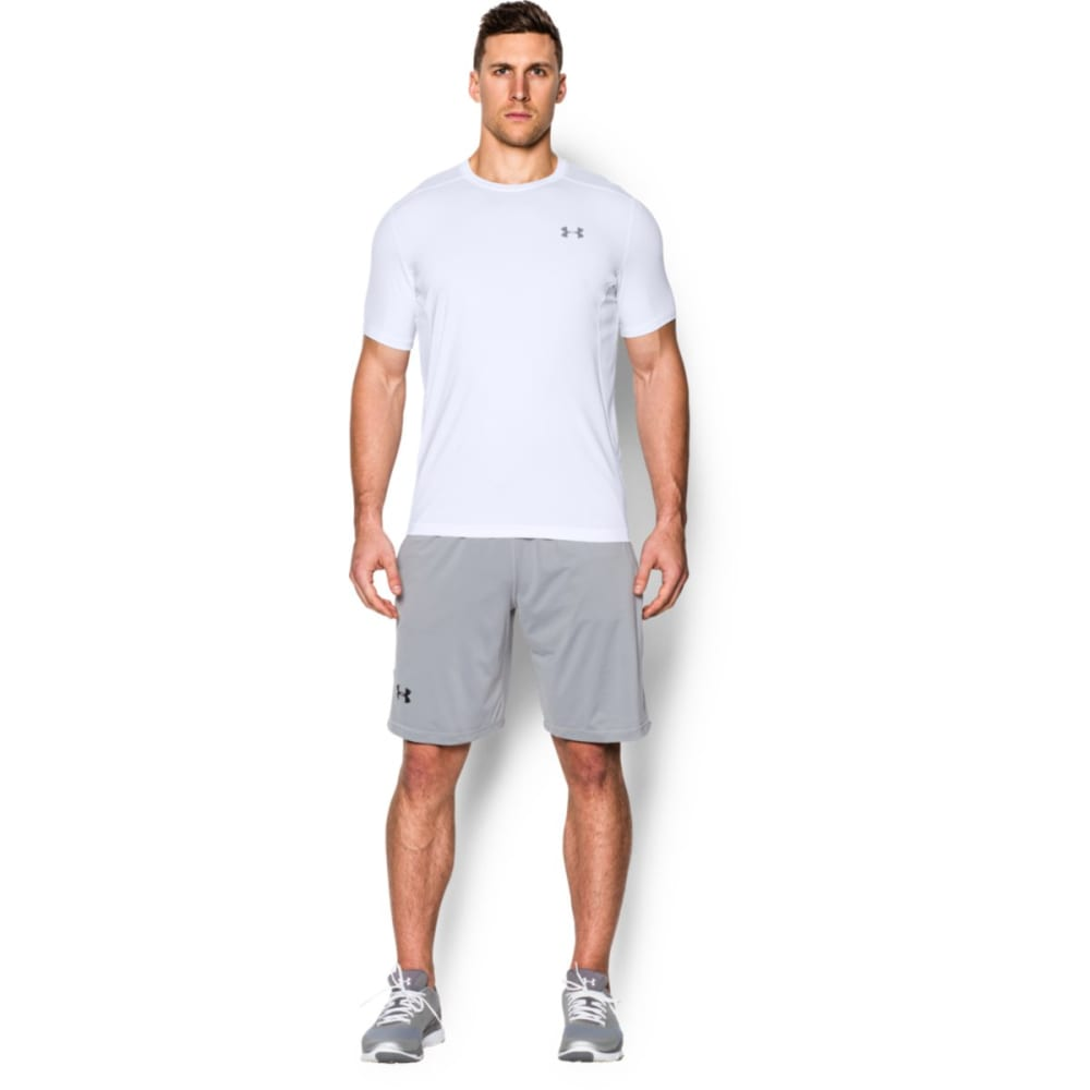UNDER ARMOUR Men's Short-Sleeve Raid Tee - WHITE-100