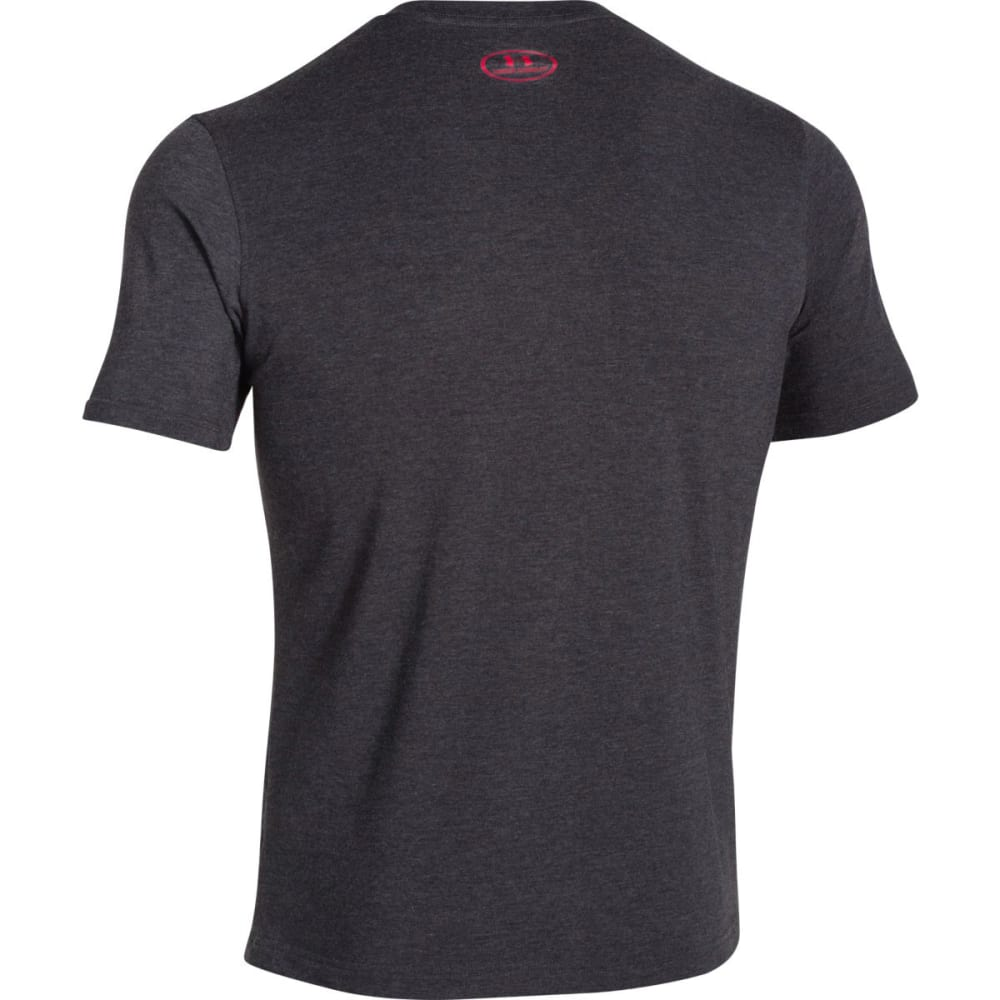 UNDER ARMOUR Men's Sportstyle Logo Tee - BLK/RED/STEEL-001