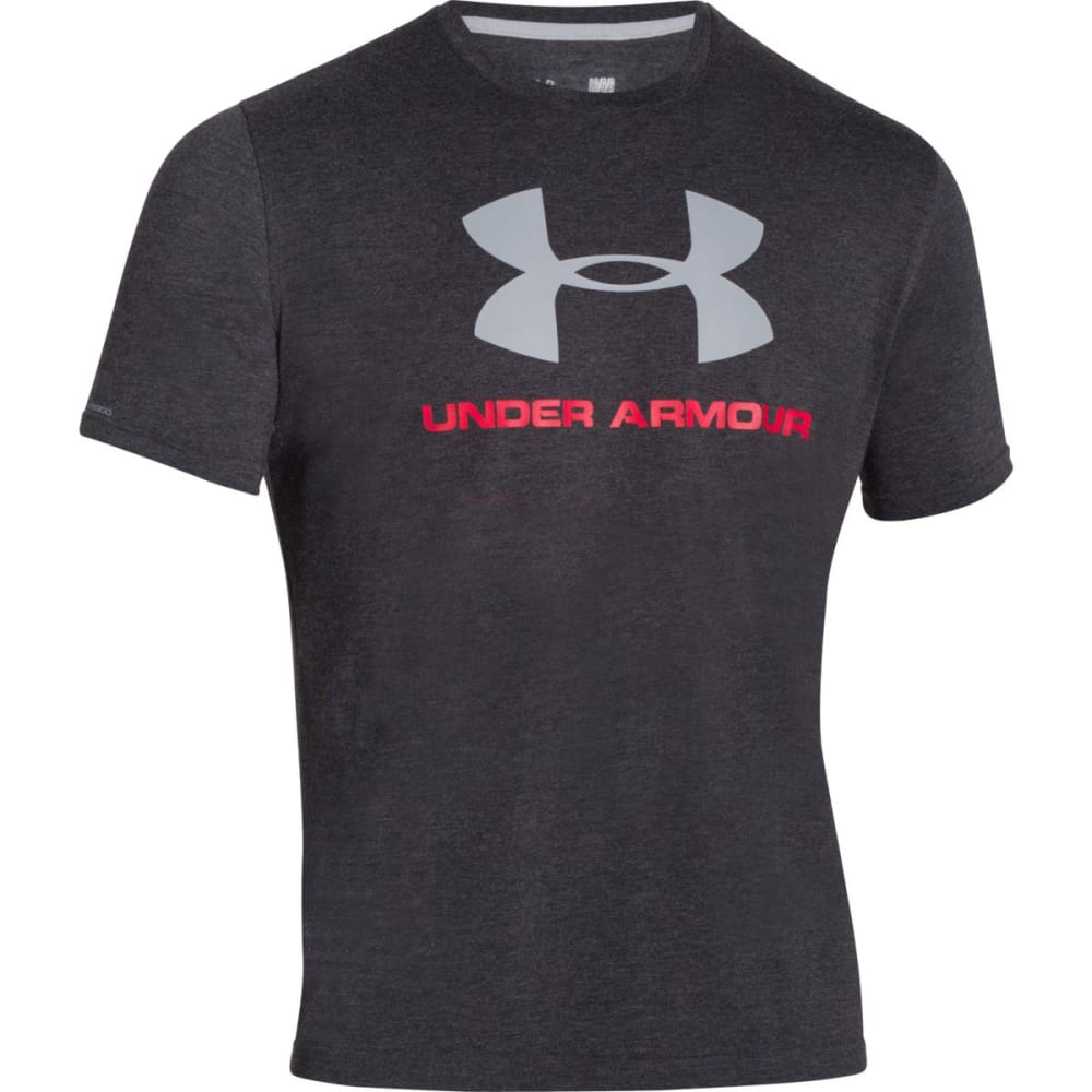 UNDER ARMOUR Men's Sportstyle Logo Tee - BLK/RED/STEEL-001