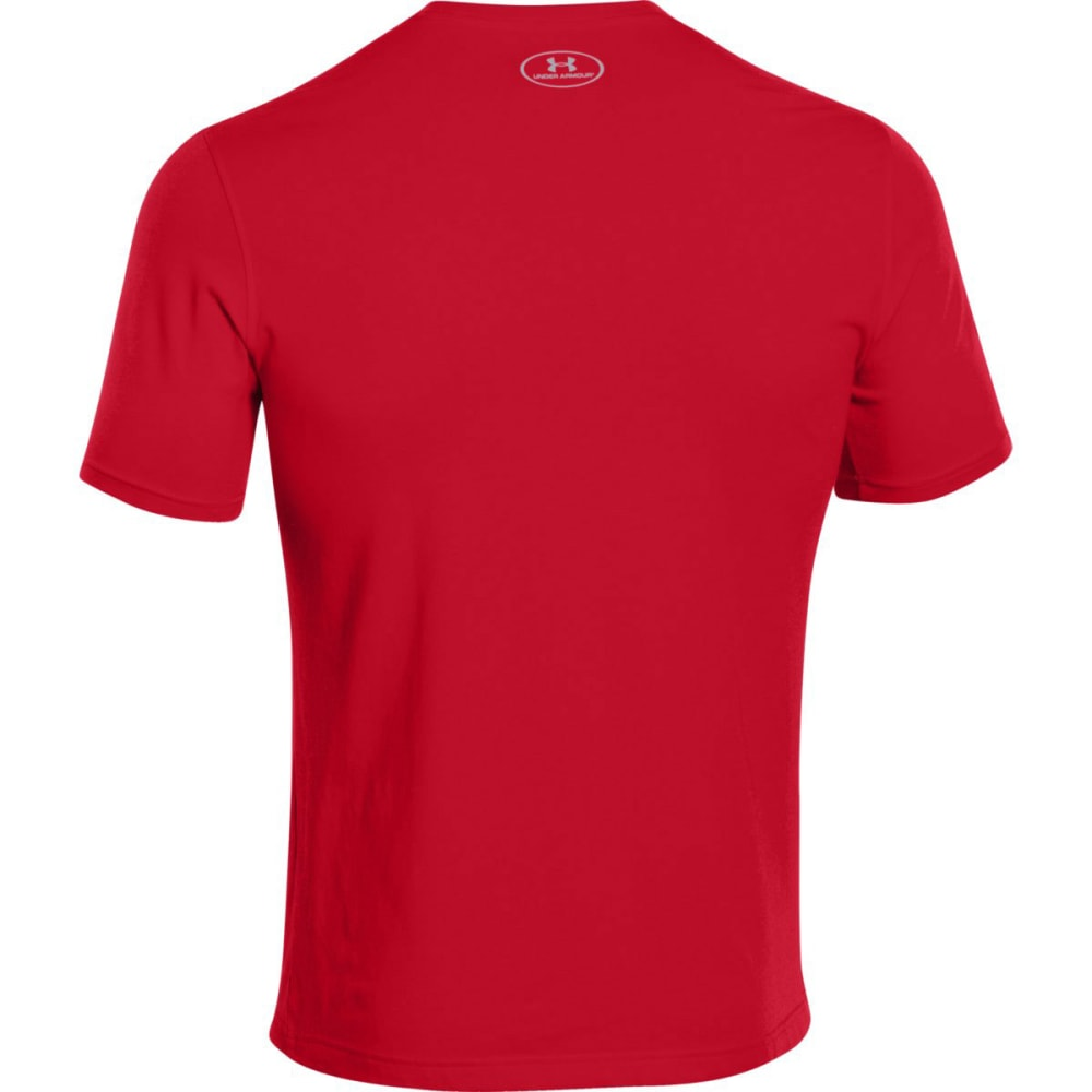 UNDER ARMOUR Men's Sportstyle Logo Tee - RED/STEEL-600