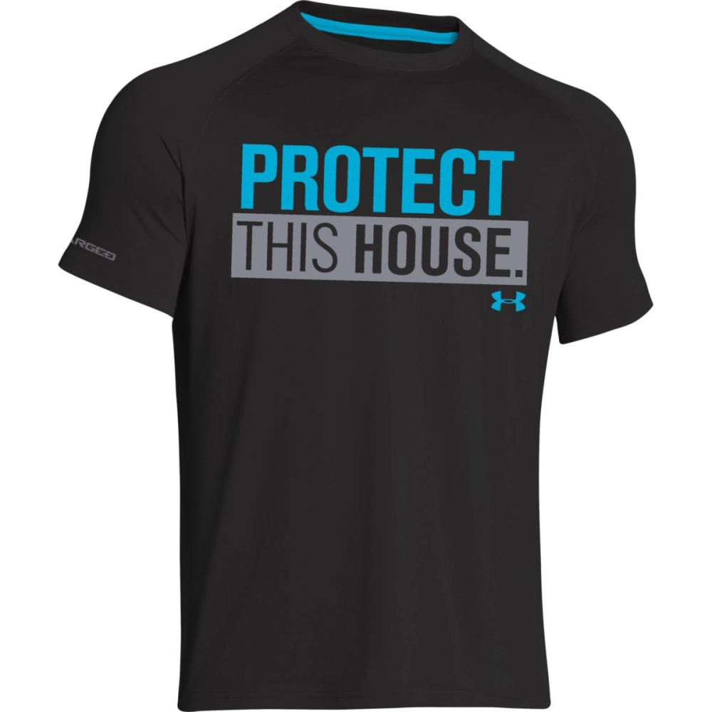 UNDER ARMOUR Men's Protect This House® T - BLACK/BLUE-002